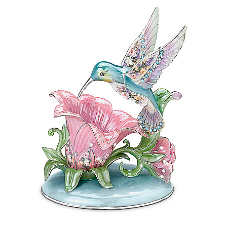Lena Liu Porcelain Hummingbird Accent Lamp: Radiant Gardens