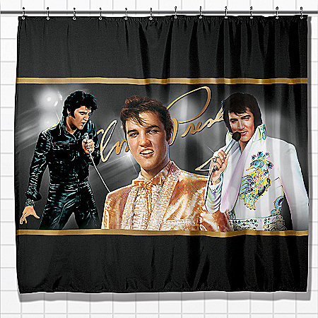The King Of Rock 'N' Roll Shower Curtain