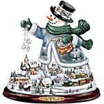 Thomas Kinkade Snowman Tabletop Centerpiece - Let It Snow