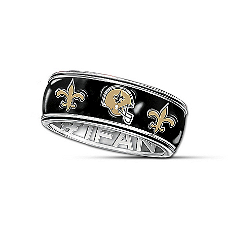 NFL New Orleans Saints Spinning Ring: #1 Fan