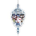 NFL New York Giants Super Bowl XLVI Champions Crystal Ornament