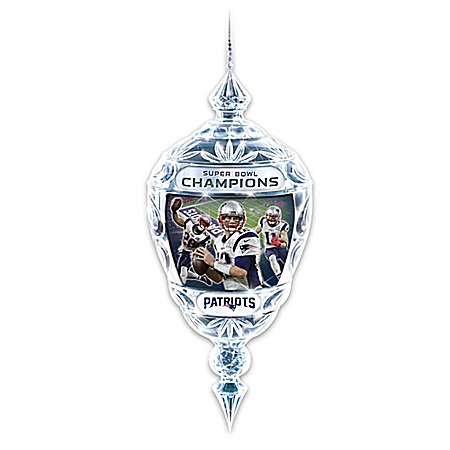 New England Patriots NFL Super Bowl LI Champions Ornament