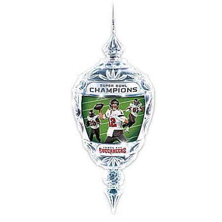 Buccaneers Super Bowl LV Champions Crystal Ornament