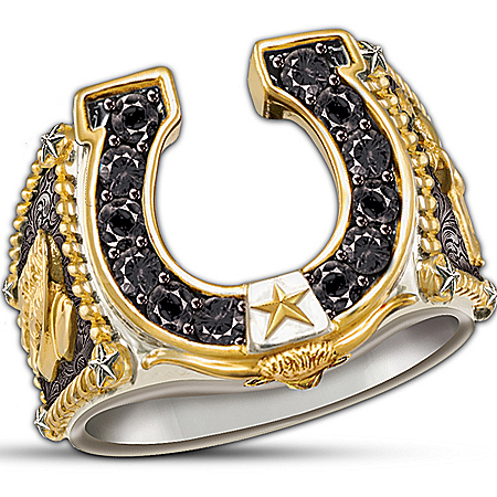Horseshoe Western Style Ring: Spirit Of The West by The Bradford Exchange Online - Lovely Exchange