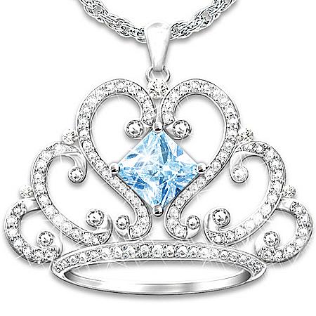 My Daughter, My Princess Swarovski Crystal Pendant Necklace
