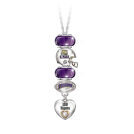 Go Tigers! #1 Fan Charm Necklace