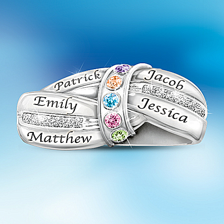 A Mother's Embrace Personalized Birthstone Ring – Personalized Jewelry