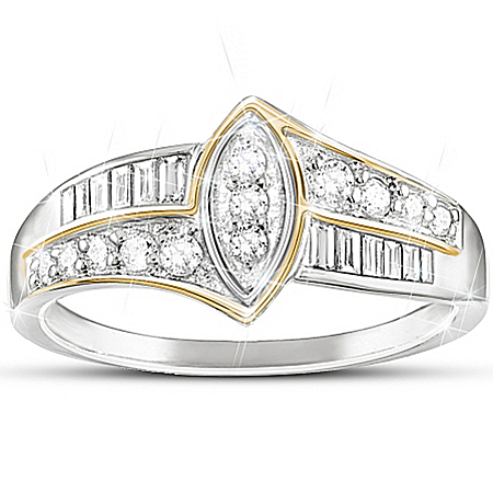 Women's Diamond Ring: The Marquise
