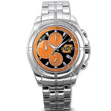 Oklahoma State Cowboys Men's Collector's Watch by The Bradford Exchange Online - Lovely Exchange