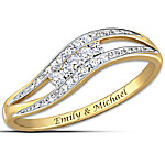 Ring - Enchantment Personalized 10K Gold and Genuine Diamond Ring