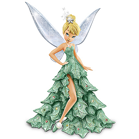 Disney Tinker Bell Christmas Figurine: Oh Christmas Tree by The Bradford Exchange Online - Lovely Exchange
