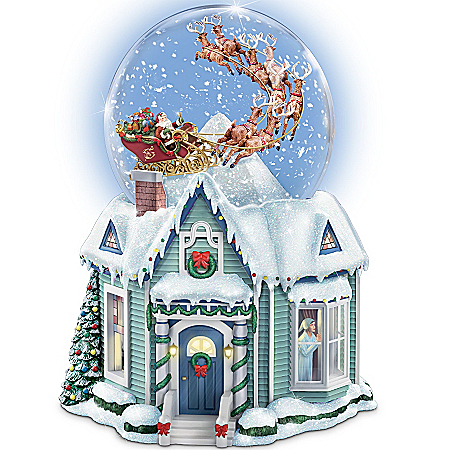 Musical Snow Globes Thomas Kinkade The Night Before Christmas Snowglobe