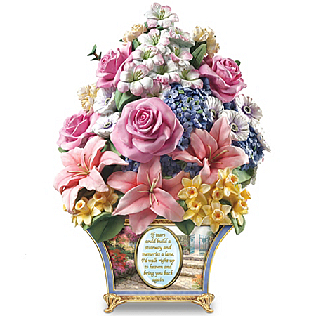 Thomas Kinkade Remembrance Sculpture: Bouquet Of Memories