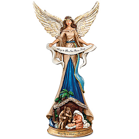 Thomas Kinkade Nativity Figurine: Unto Us A Child Is Born