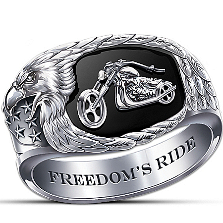 Freedom's Ride Men's Motorcycle Ring