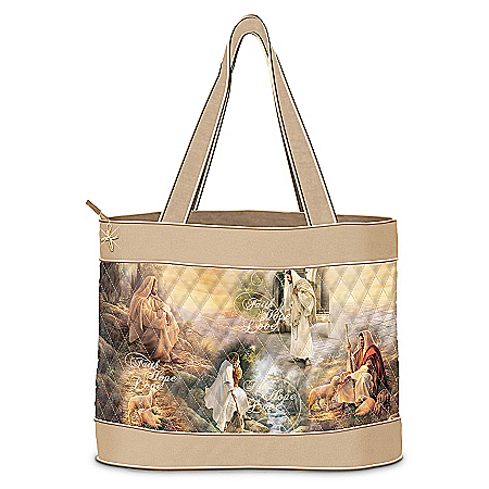 Guided By Love Christian Art Tote Bag