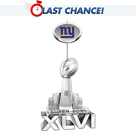 NFL New York Giants Super Bowl XLVI Championship Ornament