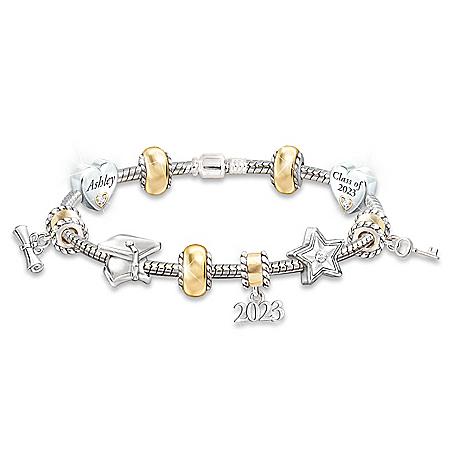 Head Of The Class: Personalized Charm Bracelet For Graduates – Graduation Gift Ideas