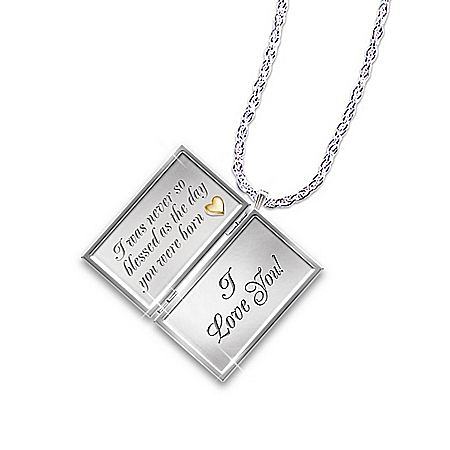 Niece Diamond Pendant Locket Necklace: Dear Niece, Letter Of Love