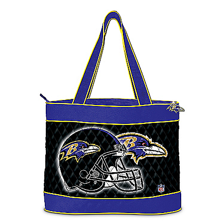 NFL Baltimore Ravens Tote Bag with a Free Cosmetic Case