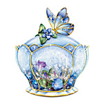 Butterfly Floral Art Heirloom Porcelain Music Box - Whispering Wings