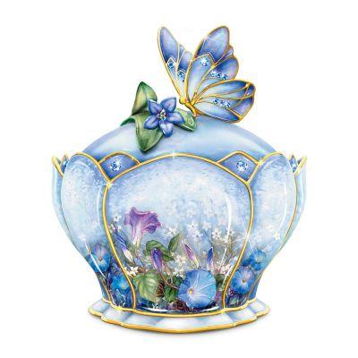Bradford Exchange Butterfly Floral Art Heirloom Porcelain Whispering Wings