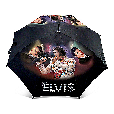 Elvis Presley Umbrella: Rock'n In The Rain