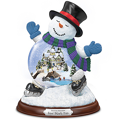 Musical Snow Globes Thomas Kinkade Sno' Much Fun Snowglobe