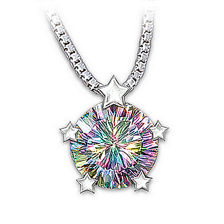 My Amazing Daughter Fireworks Pendant Necklace