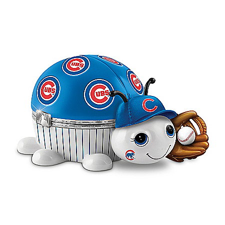 MLB Chicago Cubs Love Bug Heirloom Porcelain Music Box