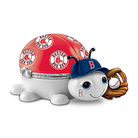 MLB Boston Red Sox Love Bug Heirloom Porcelain Music Box