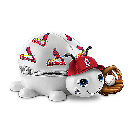MLB St. Louis Cardinals Love Bug Heirloom Porcelain Music Box