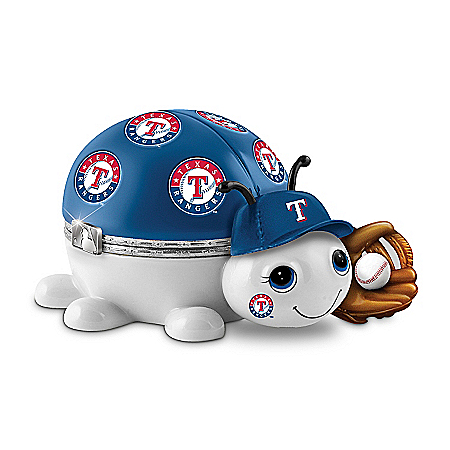 MLB Texas Rangers Love Bug Heirloom Porcelain Music Box