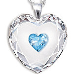 Crystal Heart Pendant Necklace For Daughter - Always In My Heart