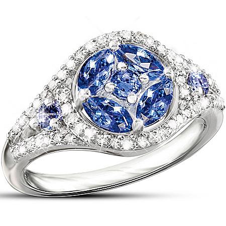 Tanzanite And Diamond Ring: Exotic Beauty
