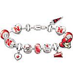 Nebraska Cornhuskers #1 Fan Charm Bracelet - Go Cornhuskers!