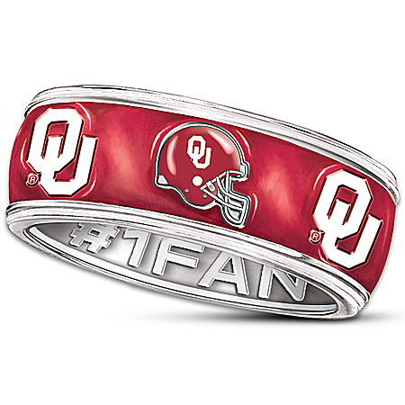 The University Of Oklahoma Sooners #1 Fan Spinning Ring