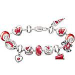 Wisconsin Badgers #1 Fan Charm Bracelet - Go Badgers!