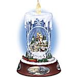 Thomas Kinkade Musical Tabletop Centerpiece Crystal Candle - Making Spirits Bright