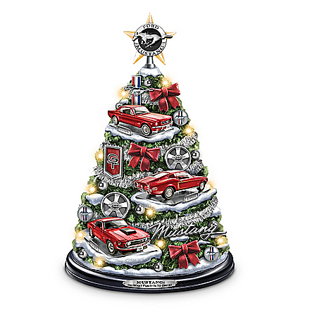 Photo of Ford Mustang Holiday Tabletop Tree: Oh What Fun It Is To Drive! by The Bradford Exchange Online