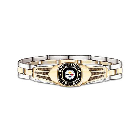 NFL Pittsburgh Steelers Men's Stainless Steel Bracelet