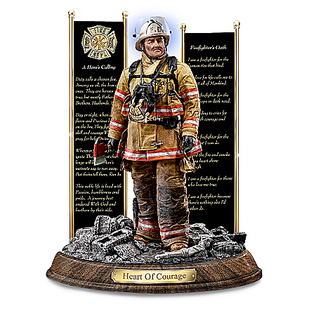 """Heart Of Courage"" A Tribute To Firefighter Sculpture"