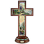 Hope Cross - Thomas Kinkade Illuminated Stained Glass-Style Hope Cross