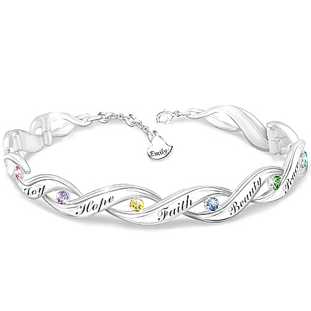 Personalized Crystal Bracelet: Wishes For My Daughter