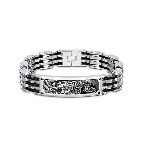 orn To Ride Men's Motorcycle Bracelet