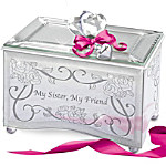 My Sister, My Friend Personalized Mirrored Music Box