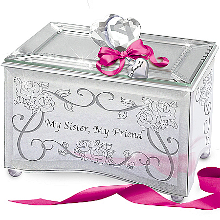 "My Sister, My Friend"" Personalized Mirrored Music Box"