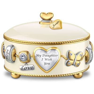 Bradford Exchange Daughter, I Wish You Heirloom Porcelain Personalized
