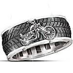 Motorcycle Men's Ring - Ride Forever
