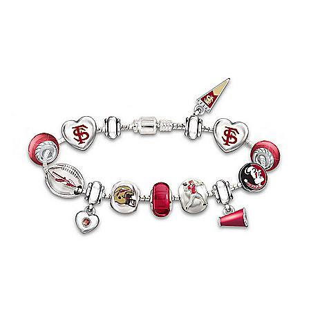 Women's Bracelet: Go Seminoles #1 Fan Charm Bracelet